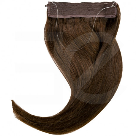 Extension cheveux swift naturelle Remy hair raide chocolat 50 cm