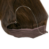 Extension cheveux swift naturelle Remy hair raide chocolat 50 cm