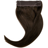 Extension cheveux swift naturelle Remy hair raide châtain foncé 50 cm