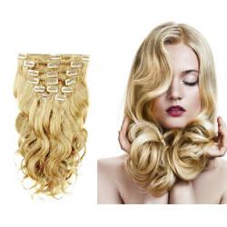 Extensions n°22 (Blond) cheveux 100% naturels à clips 53 cm