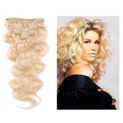 Extensions n°613 (BLOND CLAIR) cheveux 100% naturels à clips 53 cm