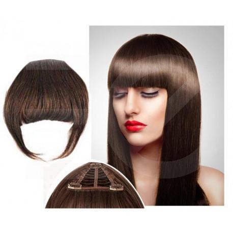 Frange à clips chocolat cheveux naturels
