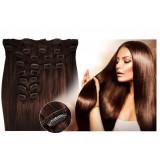 Kit extensions de cheveux à clips naturel Chocolat 4 luxe 100% volume 180 Gr. 53 cm