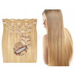 Kit extension de cheveux à clips naturel blond 22 luxe 100% volume 180 Gr. 63 cm