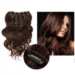 Extensions cheveux à clips chocolat