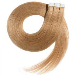 Extensions adhésives / Tape blond doré cheveux 100% naturels 73 cm