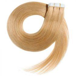 Extensions N°22 (Blond) cheveux 100% naturels adhésives / Tape 50 cm