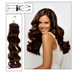 Extensions n°4 (chocolat) cheveux 100% naturels à loop bouclé 61 cm