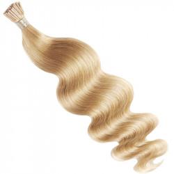Extensions n°22 (blond) cheveux 100% naturels à froid 50 cm Bouclé/ondulé