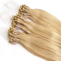 Extensions n°22 (BLOND) cheveux 100% naturels à loop 48 cm