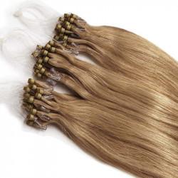 Extensions n°14 (blond doré) cheveux 100% naturels à loop 48 cm