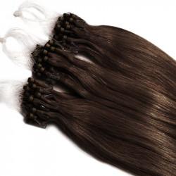 Extensions n°4 (CHOCOLAT) cheveux 100% naturels à loop 48 cm 085 Gr