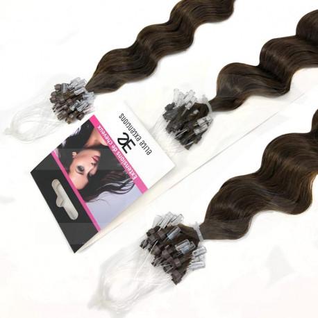 Extension cheveu loop frisé n°4 (chocolat) 100% naturel 61 cm