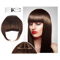 Frange à clips N4 Chocolat , cheveux 100 % naturels en vente sur elite-extensions.fr