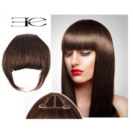 frange clips n4 chocolat cheveux 100 naturels ebay. Black Bedroom Furniture Sets. Home Design Ideas