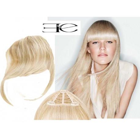 Frange à clips N613 Blond clair , cheveux 100 % naturels  en vente sur elite-extensions.fr