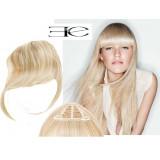Frange à clips N613 Blond clair , cheveux 100 % naturels