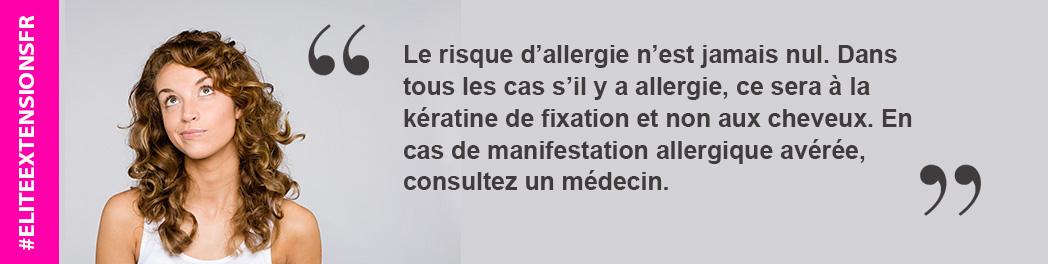 RISQUE D'ALLERGIE